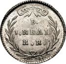 1 Real (Republic of Colombia) – reverse
