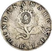 8 Reales (United Provinces of Nueva Grenada; Countermarked) – reverse