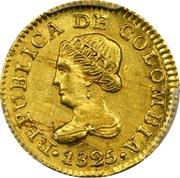 1 Peso (Republic of Colombia) – obverse