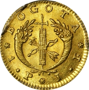 1 Peso (Republic of Colombia) – reverse