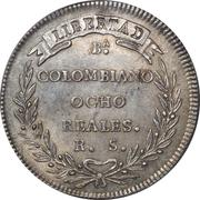 8 Reales (Republic of Colombia) – reverse