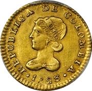 1 Escudo (Republic of Colombia) – obverse