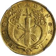 8 Escudos (Republic of Colombia) – reverse