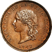 16 Pesos (Copper pattern strike) – obverse