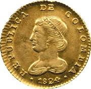 2 Escudos (Republic of Colombia, Republic of Nueva Granada) – obverse