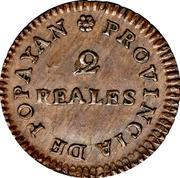 2 Reales (Popayan) – reverse