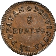 8 Reales (Popayan) – reverse
