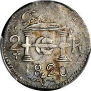 2 Reales - Fernando VII (Santa Marta) – obverse