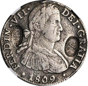 8 Reales - Ferdinand VII (Santa Marta; Countermarked) – obverse