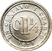 1¼ Centavo – reverse