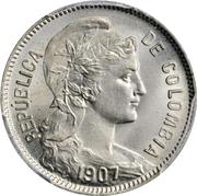 2 Pesos Papel Moneda (Inflationary coinage: 2 Pesos p/m = 2 Centavo) – obverse