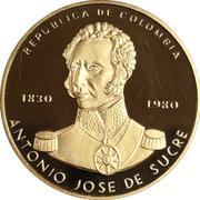 15000 Pesos - Death of Antonio Jose De Sucre – obverse