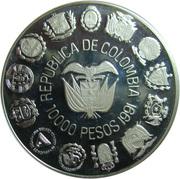 10 000 Pesos (Ibero-American Series - Bogotá Mint) – obverse