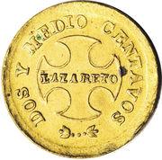 2½ Centavos (Leprosarium Coinage) – reverse