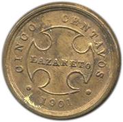 5 Centavos (Leprosarium Coinage) – obverse