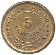 5 Centavos (Leprosarium Coinage) – reverse