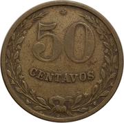 50 Centavos (Leprosarium Coinage) – reverse