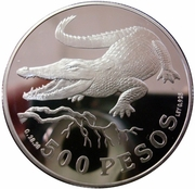 500 Pesos (WWF - Crocodile) – reverse