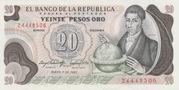 20 Pesos(Francisco Jose de Caldas) – obverse
