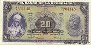 20 Pesos Oro – obverse