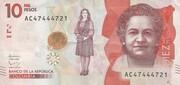 10,000 Pesos – obverse