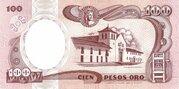 100 Pesos Oro – reverse