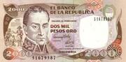 2000 Pesos Oro – obverse