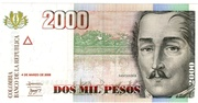 2000 Pesos (New seal) – obverse