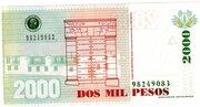 2000 Pesos – reverse