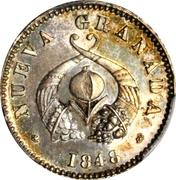 ½ Real (Republic of Nueva Granada; Piedfort) – obverse