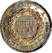 ½ Real (Republic of Nueva Granada; Piedfort) – reverse