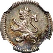 """¼ Real """"Cuartillo"""" - Fernando VI, Carlos III or Carlos IV – obverse"""