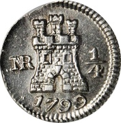 "¼ Real ""Cuartillo"" - Carlos IV – reverse"