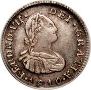 ½ Real - Fernando VII (Portrait of Carlos IV) – obverse