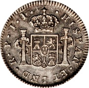 ½ Real - Fernando VII (Portrait of Carlos IV) – reverse
