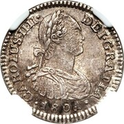 1 Real - Carlos IV – obverse