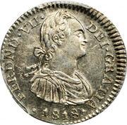 1 Real -Fernando VII (Portrait of Carlos IV) – obverse