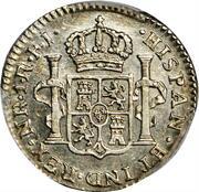 1 Real -Fernando VII (Portrait of Carlos IV) – reverse