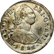 2 Reales - Fernando VII (Portrait of Carlos IV) – obverse