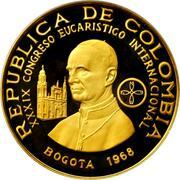 1500 Pesos (International Eucharistic Congress) – obverse