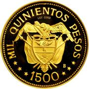 1500 Pesos (International Eucharistic Congress) – reverse