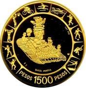 1500 Pesos (Pan American Games) – reverse