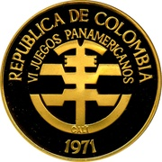 1500 Pesos (Pan American Games) – obverse
