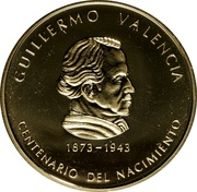 2000 Pesos (Guillermo Valencia) – reverse