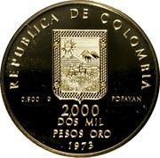 2000 Pesos (Guillermo Valencia) – obverse