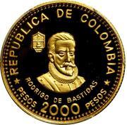 2000 Pesos (City of Santa Marta) – obverse