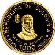 1000 Pesos (City of Santa Marta) – obverse