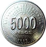5000 Pesos (Organization of American States) – obverse