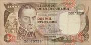 2000 Pesos Oro -  obverse