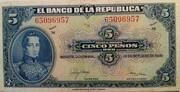 5 Pesos Oro – obverse